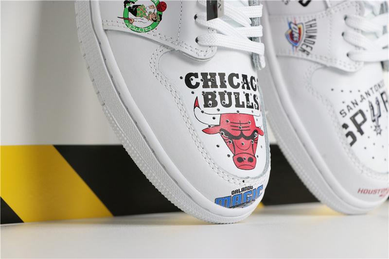 0d67caa7d41e5f8a7fed17c506bafa44 - Air Jordan 1 喬丹1代三方聯名NBA白塗鴉 高筒 休閒運動鞋 白色 熱銷推薦❤️