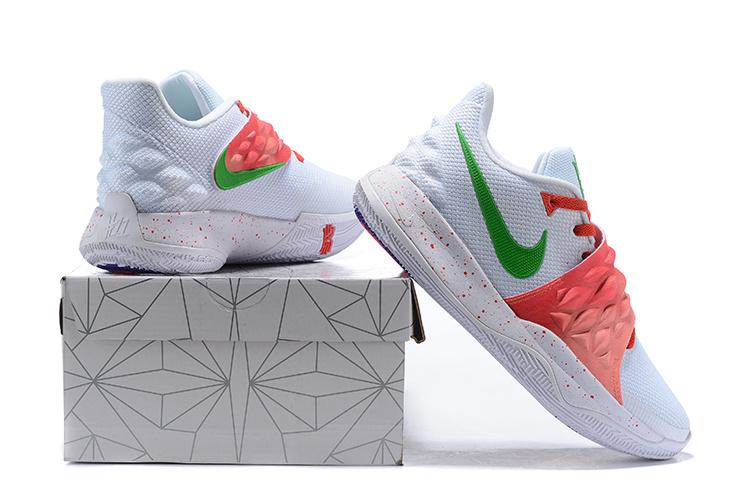 79f15c8b5b28ded6051fa2bf03201793 - Nike Kyrie4 Low 厄文4 綁帶 低幫 實戰 男子 籃球鞋 白紅色 耐磨戰靴 新品❤️