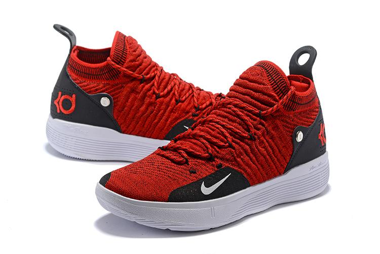 aac396cef45b026d79c17f20528f4679 - Nike Zoom KD11代 飛織 中幫 耐磨 籃球鞋 大紅色 男款 最高品質 現貨預購