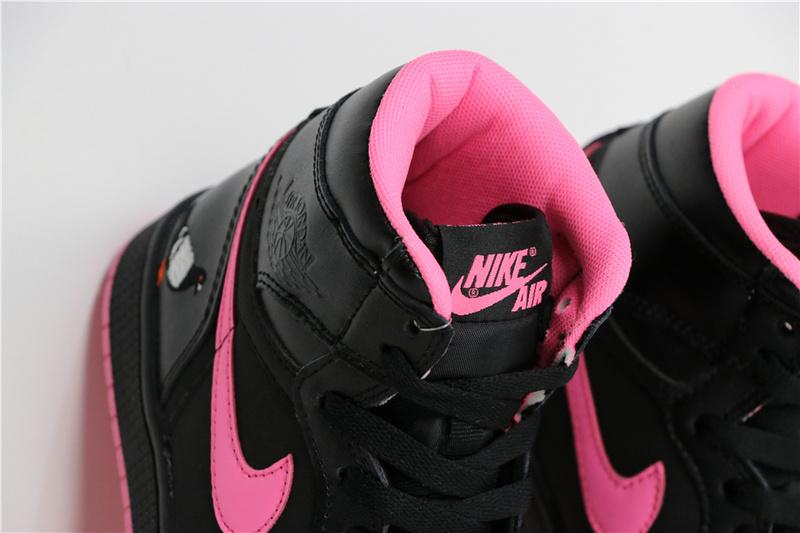 c202b758732b214c78b01565e8779fb8 - Air Jordan 1 喬丹1代 黑粉 鴿子刺繡 高筒 休閒運動鞋 時尚 百搭 熱銷推薦❤️