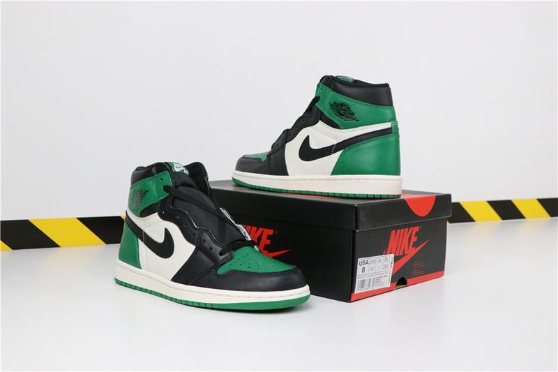 e8300abd5ee8ce08084b65ed5c7f8a48 - Air Jordan 1 Pine Green 喬丹1代 黑綠腳趾 男款 高筒 休閒籃球鞋 熱銷推薦❤️