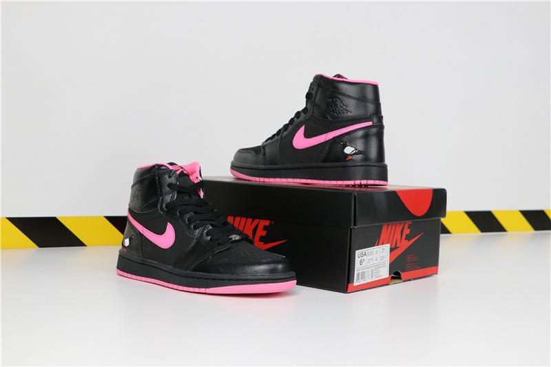 eaec406df7c887bdd7b4638aa6ad7690 - Air Jordan 1 喬丹1代 黑粉 鴿子刺繡 高筒 休閒運動鞋 時尚 百搭 熱銷推薦❤️