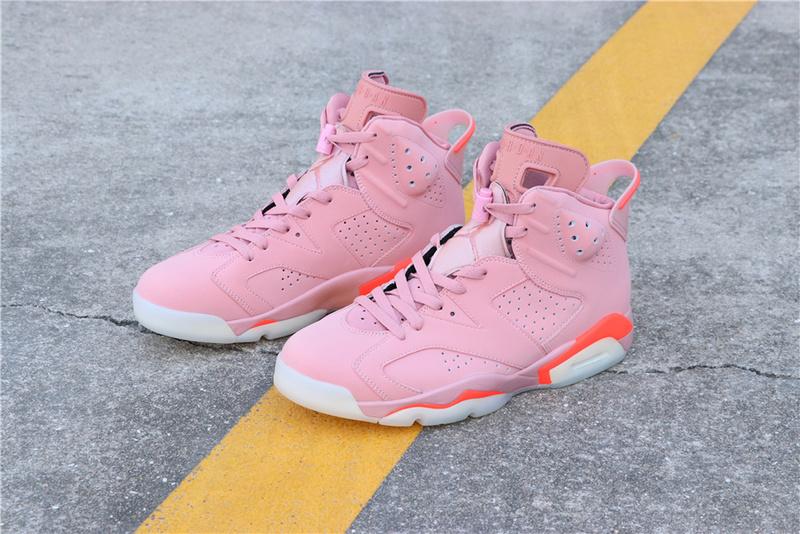 ebd4e097df7e251a9f69480133ed9eb1 - Air Jordan 6 Millennial Pink 384664-031 喬6粉紅外線男款