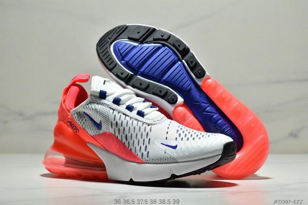 0a76b7e0949c0378fb1259f93dd27779 - NIKE Air Max 270 Triple Black 系列 後跟半掌高彈氣墊 休閒運動 女鞋 白紅寶藍