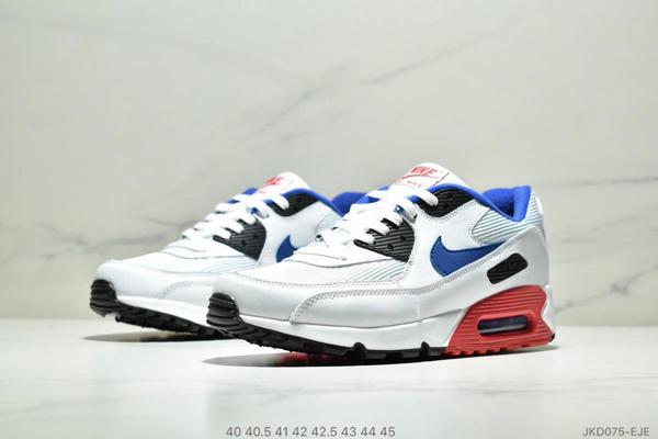 106b2a491922bec3aab0cd54cb17aead - Nike Air Max90 Essential 復古氣墊百搭慢跑鞋 男款 白藍黑紅