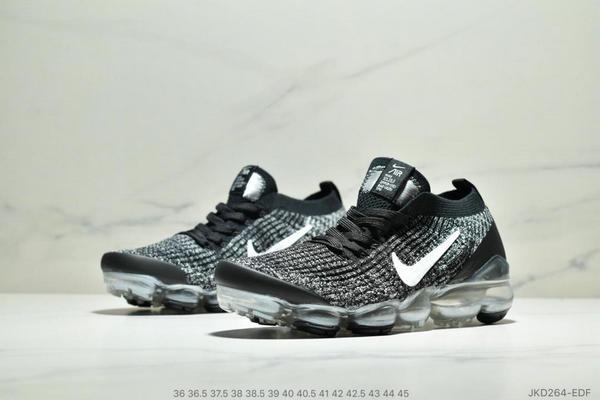 1482dff25f8dcb1153fa1e3fdec6b0be - Nike Air VaporMax Flyknit 3.0 針織網面透氣全掌氣墊跑步鞋 情侶款 黑白
