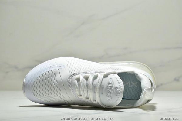 21b7111bc80e8c2c15e7795fc9eb7654 - NIKE Air Max 270 Triple Black 系列 後跟半掌高彈氣墊 休閒運動 男鞋 白色
