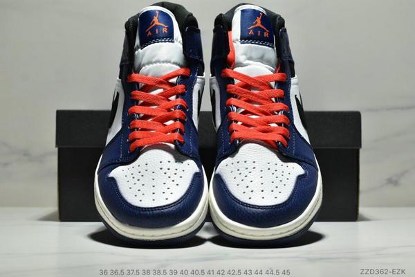 29ccb0b5894c2ca4e0b2f043e49c18f0 - NIKE Air Jordan 1 Mid AJ1中幫白藍紅小閃電 情侶款