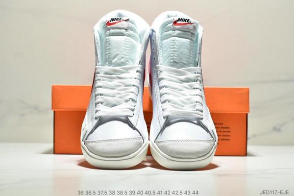 2a09569da5c1a4cac4abf88f5b11d06c - NIKE BLAZER MID  77 VNTG012613 高幫開拓者頭層皮經典板鞋 情侶款 白紅