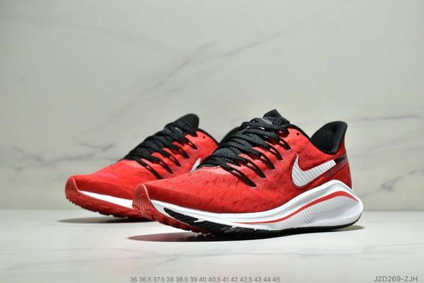 36c02c2a1bd3727dcfefd7cef36a2a71 - Nike Air Zoom Vomero 14代 內建4/3氣墊 馬拉鬆拉線緩震運動跑步鞋 情侶款 紅白黑