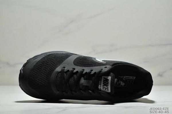39a64d0890a7b513aeca36a8408c2f11 - NIKE ZOOM VOMERO+8 登月編織飛線運動休閒鞋 男鞋 黑銀