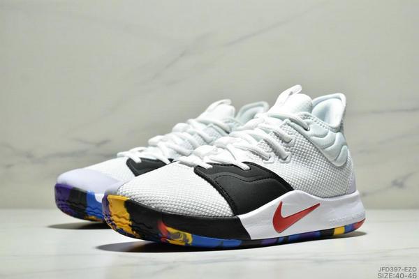 3a3e9706505ce84603f347d728c087a4 - Nike Pg 3 Ep 保羅喬治3代宇航員NASA聯名實戰籃球鞋 男款 白黑紅
