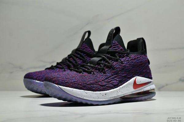 3d012771a259ead58791d9584626a69d - NIKE LEBRON XV LOW EP 詹姆斯15代 魚鱗片氣墊籃球鞋 男款 紫黑紅