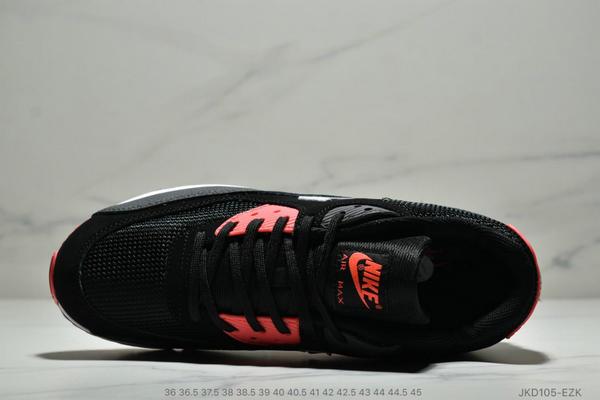 3e21512f2c6f2c094187d6925cefa8dd - Nike Air Max 90 網面氣墊跑鞋 經典男女鞋 黑紅