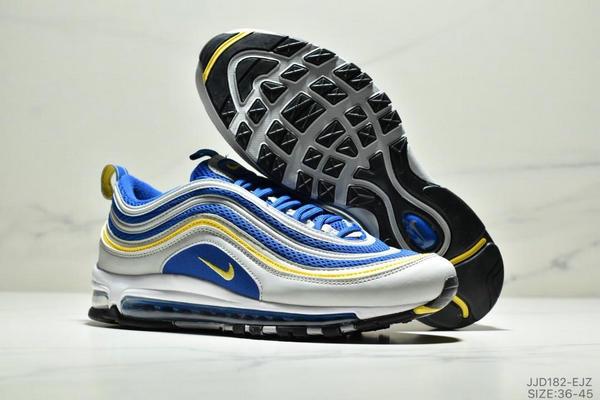3ec1b8e7e7a57a1305a7aa696fee063b - NIKE AIR MAX 97 OG UNDFTD 97復古全掌小氣墊減震跑鞋 情侶款 白寶藍黃