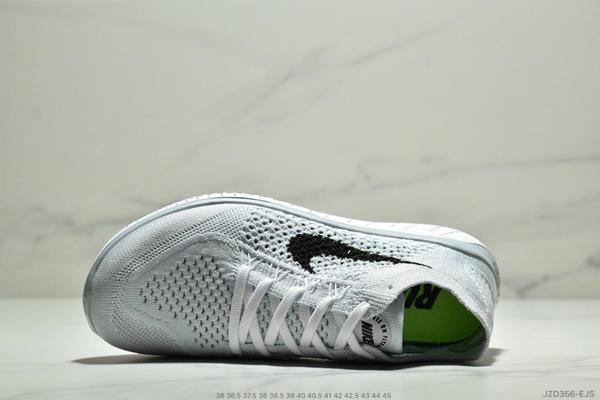 46f32a65bb6104b6f25fb0c00e039012 - Nike Free Rn Flyknit 赤足飛線編織運動跑步鞋休閒鞋 情侶款 白黑