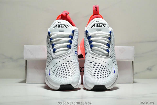 4dade69d8046754af23afb45090bac9b - NIKE Air Max 270 Triple Black 系列 後跟半掌高彈氣墊 休閒運動 女鞋 白紅寶藍