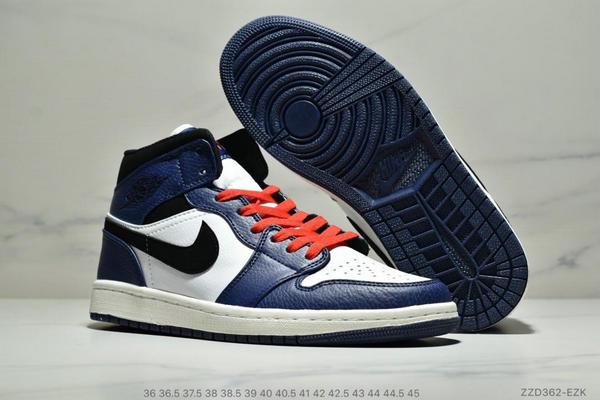5a345ff37b40b1a2fca97eb4bc05b2d1 - NIKE Air Jordan 1 Mid AJ1中幫白藍紅小閃電 情侶款