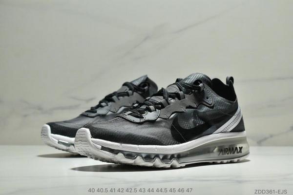 5bcddee788c170f16009ebdd276f99c8 - Nike React Element 87全新演繹注入Max 2019 氣墊 男款 黑白