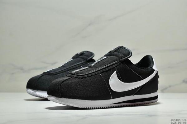 5c858f864fe4eb37ac47b530792283d9 - Nike Cortez Kenny IV 110E2022聯名 全新阿甘一腳蹬設計 運動休閒慢跑鞋 男女鞋 黑白