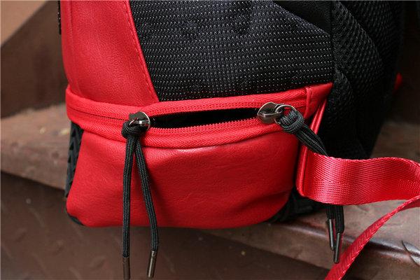 5d3c834934862ff44a920ffdf725735b - Nike Air Jordan 同款 純色AJ雙肩揹包 黑紅