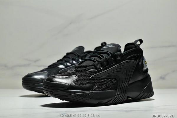 5ea50e6c1e8ddb535f7d0e3147bf4ff0 - Nike Zoom +2K Sneaker White/Black Zoom 2000復古百搭老爹慢跑鞋 男款 全黑