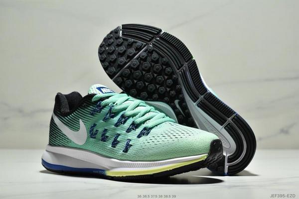 6308b69ab6801ddb34921f98bad9e6e4 - Wmns Nike Air Zoom Pegasus 33登月系列 透氣網面夏季清涼休閒慢跑鞋 女鞋 綠藍白