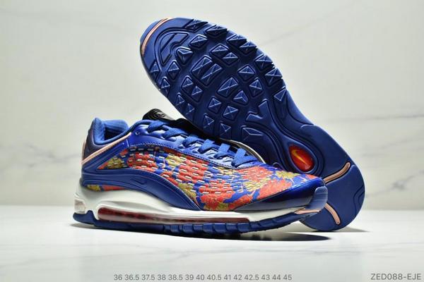 6916f8c3ce7224de53a5a0ab6a791813 - Nike Air Max99 SUPREME 大氣墊聯名緩震復古跑鞋 情侶款 寶藍紅黃