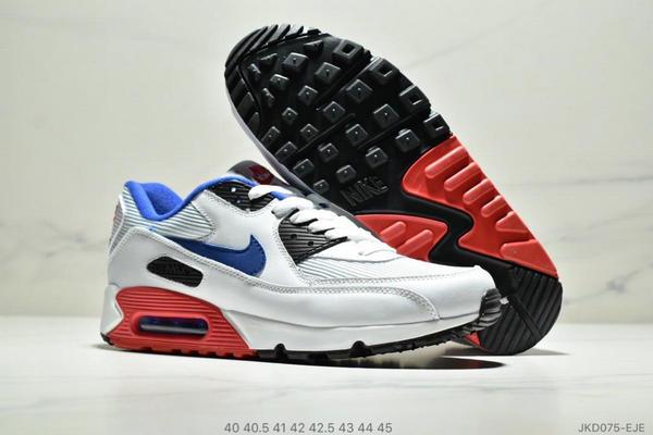 6f7df88f691529b0a40e53a6c22965d9 - Nike Air Max90 Essential 復古氣墊百搭慢跑鞋 男款 白藍黑紅