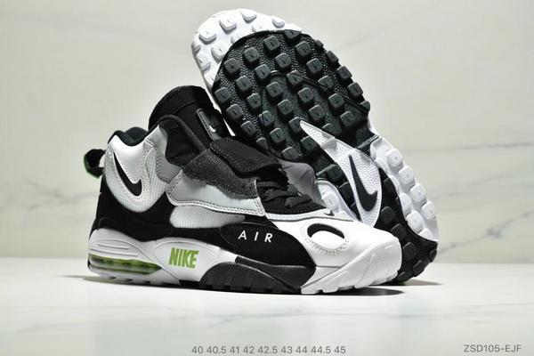 77eeb94afc2b0873936008e3eed7b2df - Nike Sportswear Air Max Speed Turf 加速實驗系列復古氣墊籃球鞋黑白奧利奧 男款 黑白綠