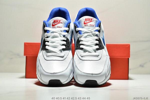 789ccbb30b22403f79840ee236431e1f - Nike Air Max90 Essential 復古氣墊百搭慢跑鞋 男款 白藍黑紅
