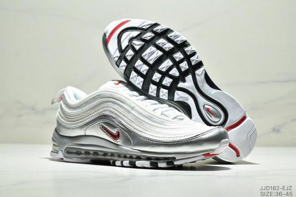 79b72d3256781bf5a83aedfb6ecb396b - NIKE AIR MAX 97 OG UNDFTD 97復古全掌小氣墊減震跑鞋 情侶款 白銀紅