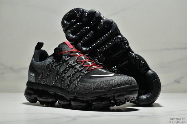 86ee19e5e488d09b81f5718b5b0d87c2 - Nike Air Vapormax Flyknit 全掌大气垫减震慢跑鞋 男款 黑白紅