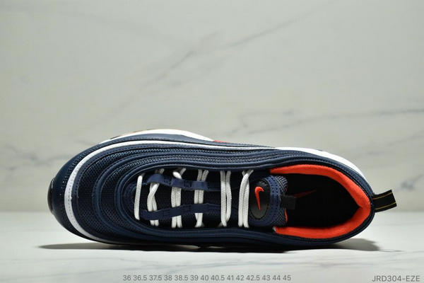89bd02dc7542f1e4c6ca2d907f03f819 - Nike Air Max 97 子彈復古全掌氣墊休閒運動鞋 男女款 深藍白紅