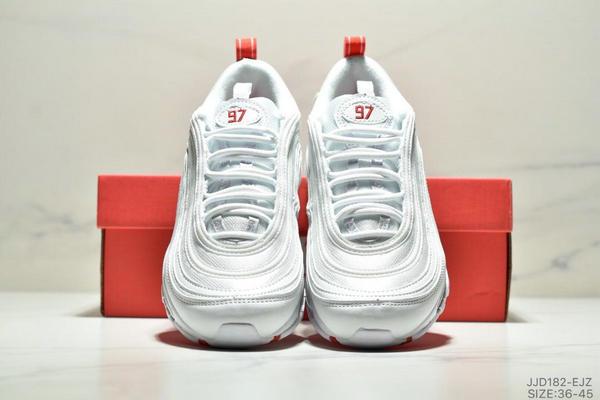 900f3943ac74d7bd8346499c7ff5ade2 - NIKE AIR MAX 97 OG UNDFTD 97復古全掌小氣墊減震跑鞋 情侶款 白紅