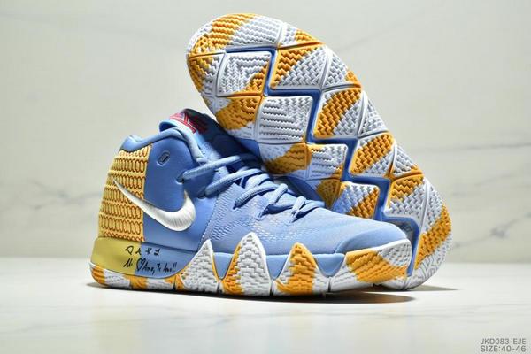 921256186b2cf1cfe0cb62562ceda684 - Nike Kyrie 4 Ep 歐文4代高幫運動籃球戰靴 男款 藍黃白