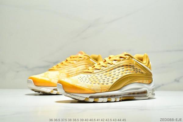 92ee6a9560dd134748366845f0a9cec2 - Nike Air Max99 SUPREME 大氣墊聯名緩震復古跑鞋 情侶款 黃色