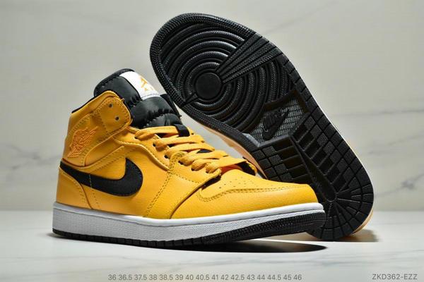 9a6e43fd9b12f832c6cd0898cf6df57f - NIKE Air Jordan 1 Mid 211S4821 黑黃小新歡 計程車配色