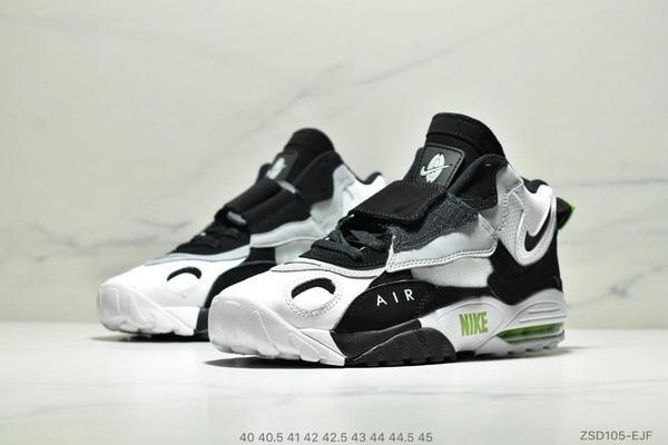 a16a5389ba06027568303a17c4ad9c24 - Nike Sportswear Air Max Speed Turf 加速實驗系列復古氣墊籃球鞋黑白奧利奧 男款 黑白綠