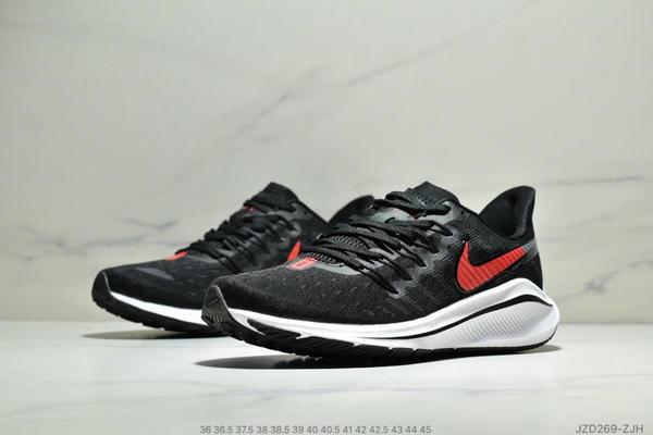 a2c20eb50a40420773829ced606fc3ca - Nike Air Zoom Vomero 14代 內建4/3氣墊 馬拉鬆拉線緩震運動跑步鞋 情侶款 黑紅