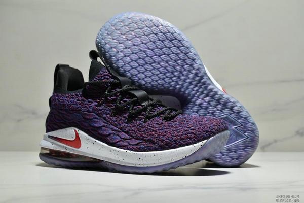 a4074e2a1b806bbe88f029006e5fa65b - NIKE LEBRON XV LOW EP 詹姆斯15代 魚鱗片氣墊籃球鞋 男款 紫黑紅
