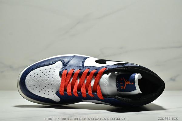 a7ac87d055ab94c6e2d66ec690335ea7 - NIKE Air Jordan 1 Mid AJ1中幫白藍紅小閃電 情侶款