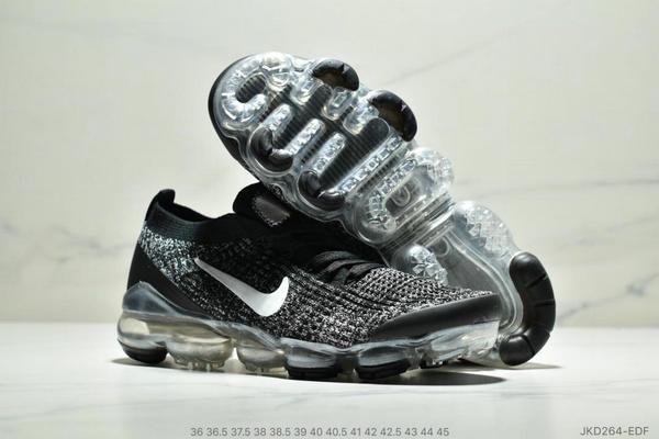 aa8e44a7a0124a781ffcf27f51b49665 - Nike Air VaporMax Flyknit 3.0 針織網面透氣全掌氣墊跑步鞋 情侶款 黑白