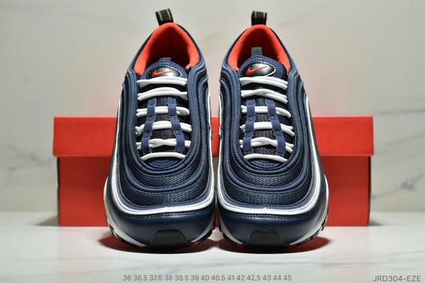 bf502830378b9a040755199035d85572 - Nike Air Max 97 子彈復古全掌氣墊休閒運動鞋 男女款 深藍白紅