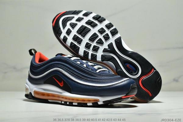 c27d84ee787c4074565af467bc2920b4 - Nike Air Max 97 子彈復古全掌氣墊休閒運動鞋 男女款 深藍白紅