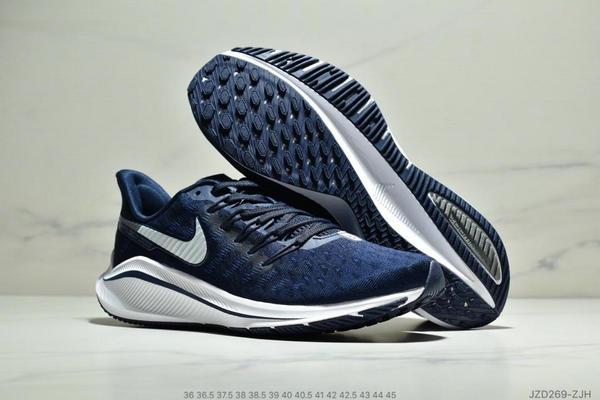 c3d5967b15436bfbf732e501e4512634 - Nike Air Zoom Vomero 14代 內建4/3氣墊 馬拉鬆拉線緩震運動跑步鞋 情侶款 深藍白