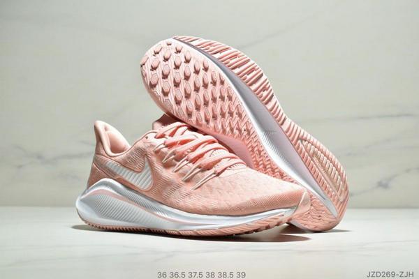 c50e7662394c1182e447e70a62c69640 - Nike Air Zoom Vomero 14代 內建4/3氣墊 馬拉鬆拉線緩震運動跑步鞋 女款 粉白