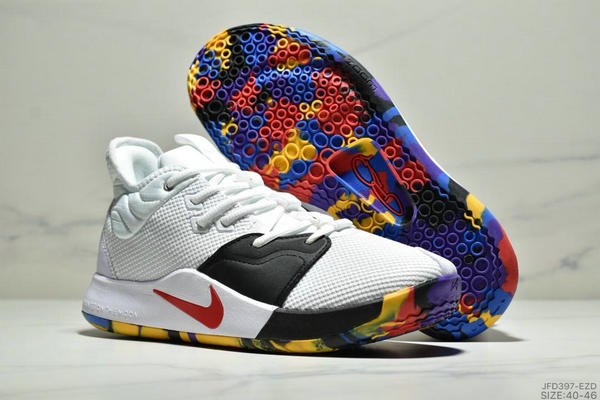 c6d010f38dd9a3c2d79b69a2bfff0ae8 - Nike Pg 3 Ep 保羅喬治3代宇航員NASA聯名實戰籃球鞋 男款 白黑紅