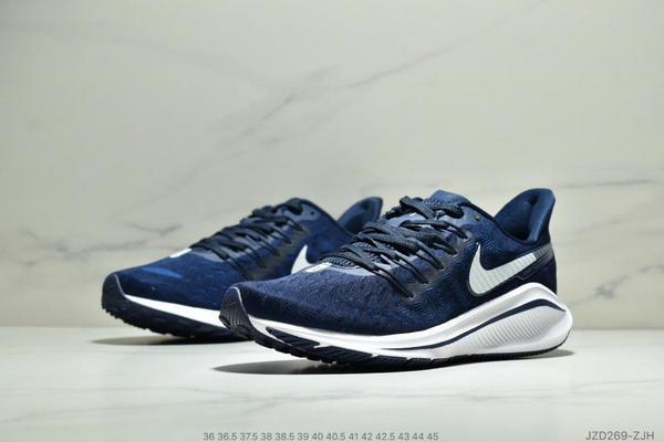 cc1ebdcef2bfc9951b497beacccbc9aa - Nike Air Zoom Vomero 14代 內建4/3氣墊 馬拉鬆拉線緩震運動跑步鞋 情侶款 深藍白