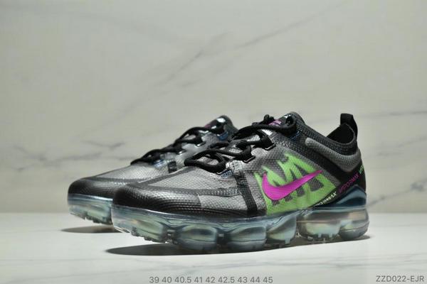 d2b30128536bd0da12d4e981e6c969b9 - Nike Air Vapormax 2019大氣墊 網紗鞋面全掌氣墊跑步鞋 男款 黑綠桃紅